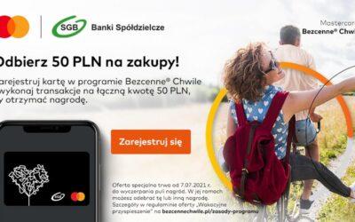 Płać kartą Mastercard i odbierz 50 PLN na zakupy!